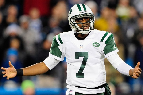 Geno Smith has 9 more turnovers than touchdowns in his career. (Getty Images)