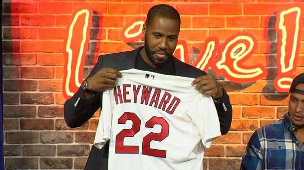 Jayson Heyward is introduced as a St. Louis Cardinal (Courtesy of MLB.com)