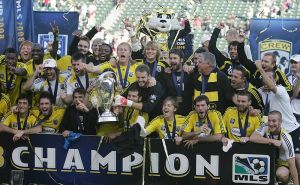 The Crew take down the Red Bulls 3-1 in the 2008 showdown.