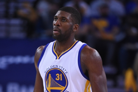December 18, 2014; Oakland, CA, USA; Golden State Warriors center Festus Ezeli (31) during the third quarter against the Oklahoma City Thunder at Oracle Arena. The Warriors defeated the Thunder 114-109. Mandatory Credit: Kyle Terada-USA TODAY Sports