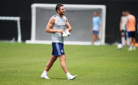 Frank Lampard continues to train with NYCFC.  Photo: SBISoccer.com